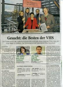 'Gesucht - die Besten der VHS' - WAZ-NRZ 27.11.2012
